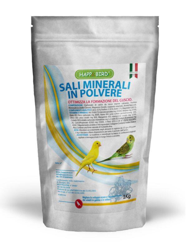 happy bird sali minerali polvere