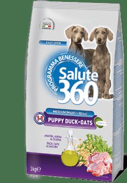 salute 360 puppy medium maxi duck e oats