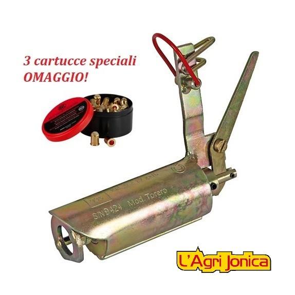 pistola antitalpa chiusura automatica abbattitalpe Kerbl cartucce omaggio