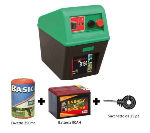 farm patrol b 160 elettrificatore a batteria kit recinzione 2