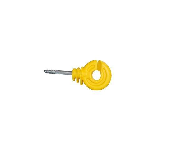 Isolatori recinzioni elettriche ad anello giallo 2