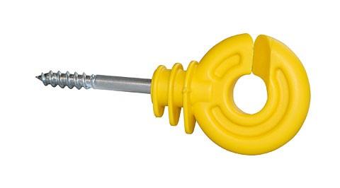 Isolatori recinzioni elettriche ad anello giallo