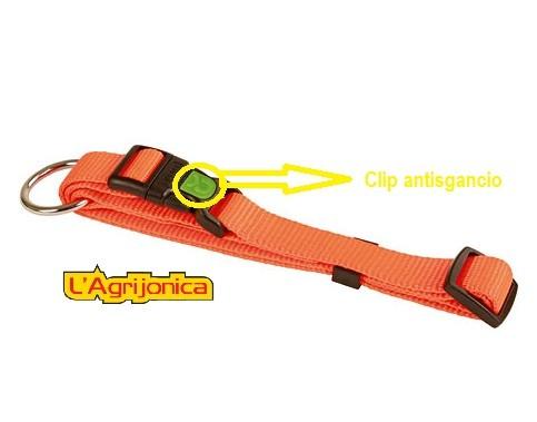 collare con clip antisgancio arancio kerbl