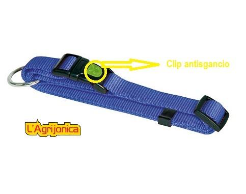 collare con clip antisgancio blu kerbl