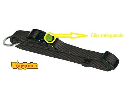 collare con clip antisgancio nero kerbl