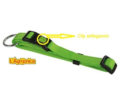 collare con clip antisgancio verde kerbl