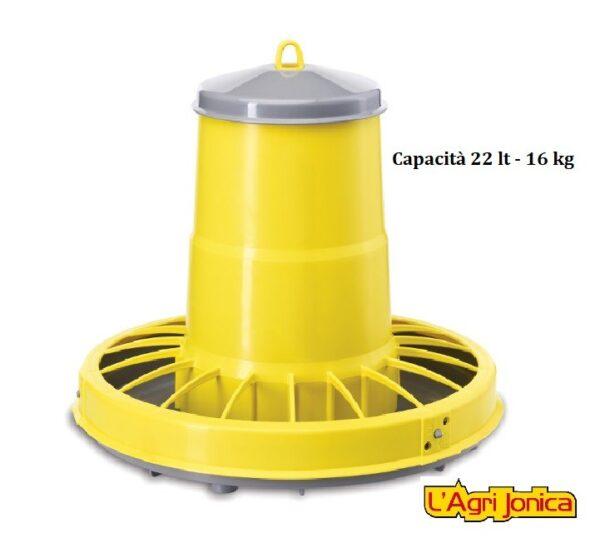 Mangiatoia antispreco per polli compacta 22 lt-16 kg