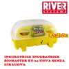 Incubatrice digitale Biomaster automatica ET 24 uova River Systems senza girauova automatico