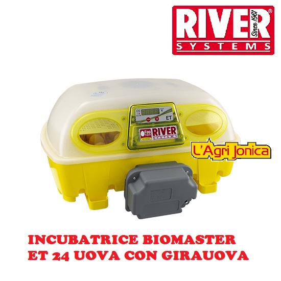 Incubatrice digitale Biomaster automatica ET 24 uova River Systems