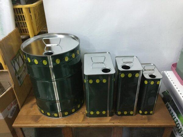 Lattina da trasporto per olio d'oliva capacità diverse