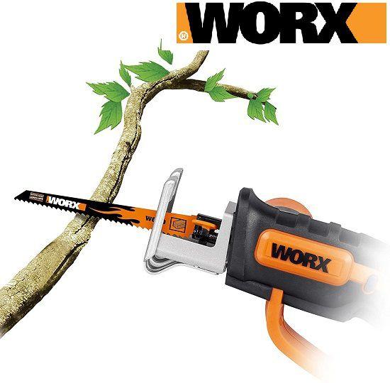 Worx Seghetto a batteria WG894E per potatura legno verde