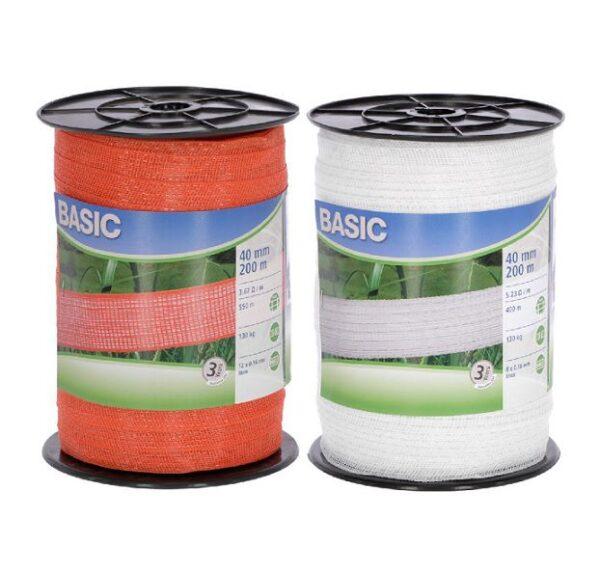 Nastro 40 mm recinto elettrico Basic acciaio inox 0.16 mm