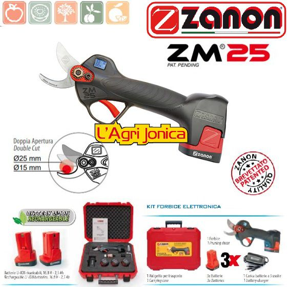 Forbice elettronica Zanon ZM 25 incluse 3 batterie