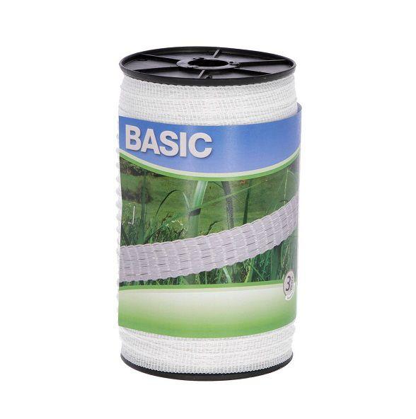 nastro basic 10 mm recinto elettrico bianco 441520
