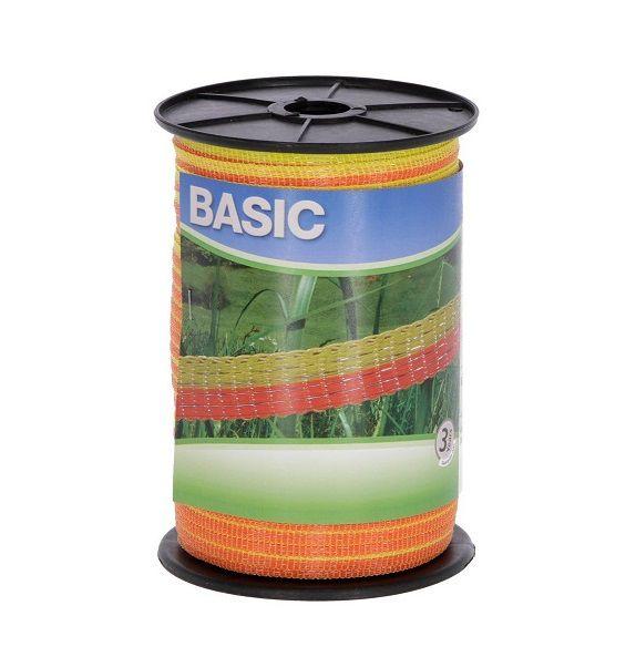 nastro basic 10 mm recinto elettrico giallo-arancio 441523